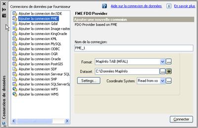 FME FDO Gratuit pour AutoCAD Map 3D 2009