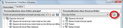 AutoCAD Map 3D 2010 - CUI ACAD - Ouvrir