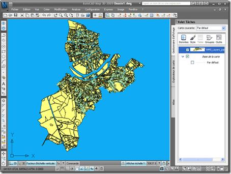 Map avec un calque WMS